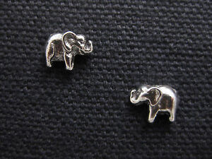 ELEPHANT .925 Sterling Silver Stud / Post Earrings - FREE SHIPPING & Gift Box!!