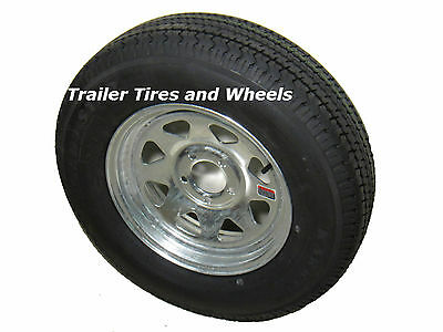 *4* Kenda Karrier ST205/75R14 Radial Trailer Tires & Wheels Galvanized 5-4.5 LRD