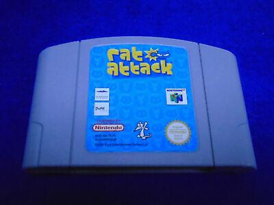 **N64 RAT ATTACK Very Rare Game Cart GENUINE Nintendo PAL