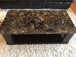Faux Marble Coffee Table and End Table