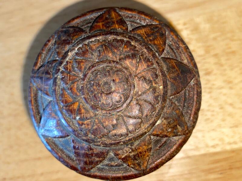 1 Antique Wooden DoorKnob