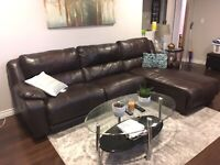 Genuine leather Ashley furniture sectional