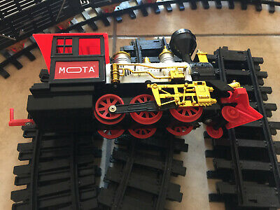 Christmas Tree Electric Toy Kids Holiday Train Complete Set MOTA Real Smoke