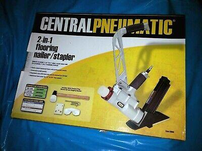 Central Pneumatic 61689 2-in-1 Floor Air Nailerstapler.0.9cfm 90 Psi Gar