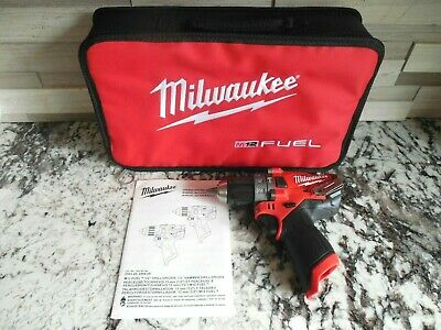 New Genuine Milwaukee Fuel 2504-20 M12 12volt Brushless Hammer Drill Wtool Bag