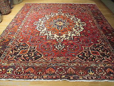 11x13 SIGNED Persian Bakhtiari Vegetable Dye Handmade-knotted Wool Rug 581325