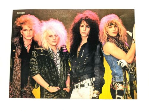 POISON / C.C. DEVILLE / FULL BAND MAGAZINE FULL PAGE PINUP POSTER CLIPPING (6)