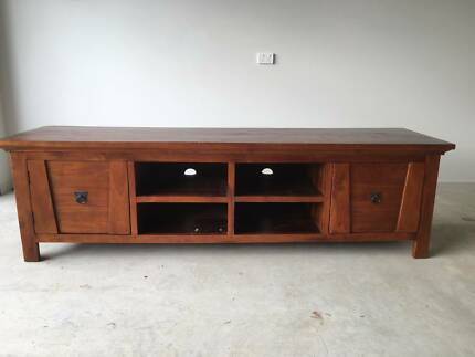Entertainment unit - solid timber
