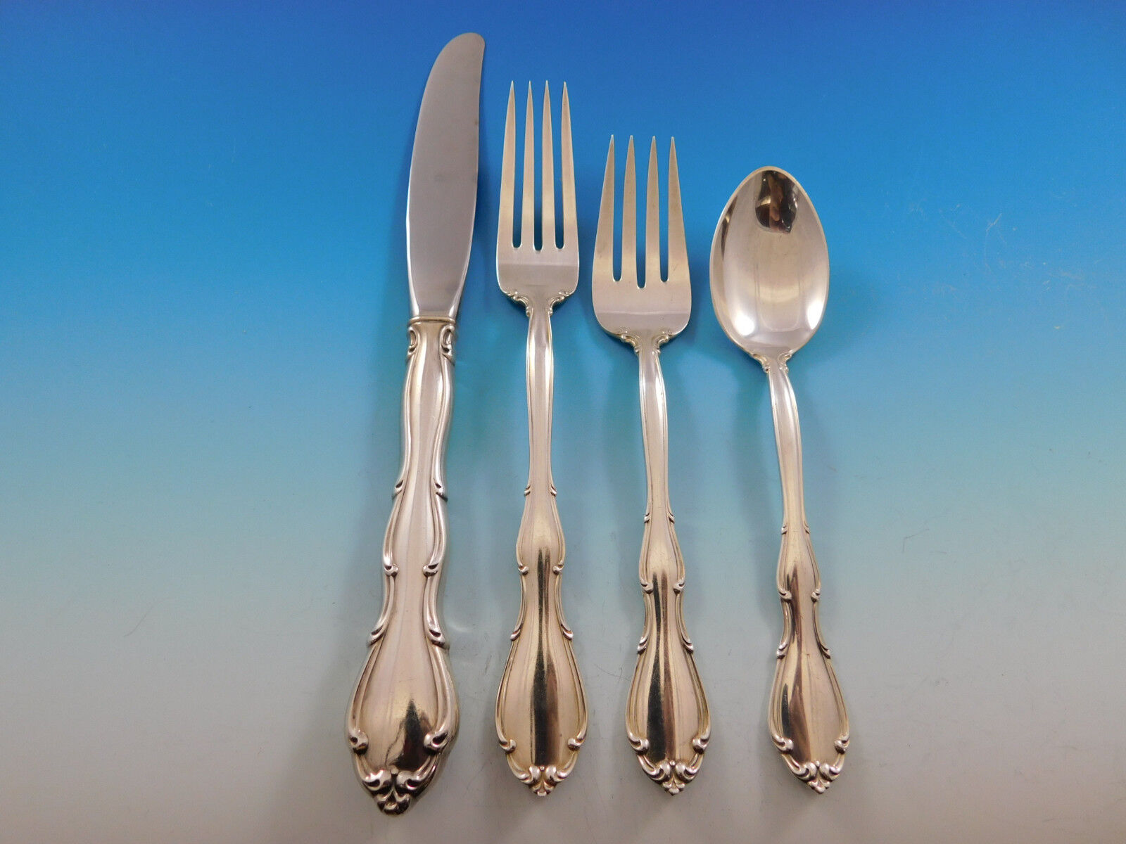 Fontana by Towle Sterling Silver Salad Serving Set 2pc HHWS  Custom Made