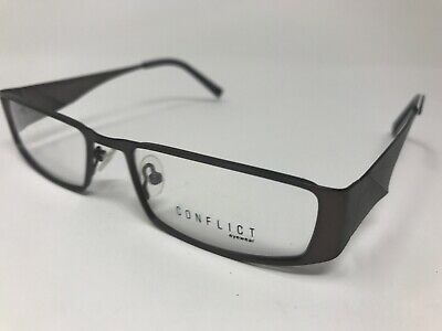 CONFLICT EYEWEAR Eyeglasses Womens Night Owl 52-17-135 Matte Gunmetal (Owl Eyeglasses)