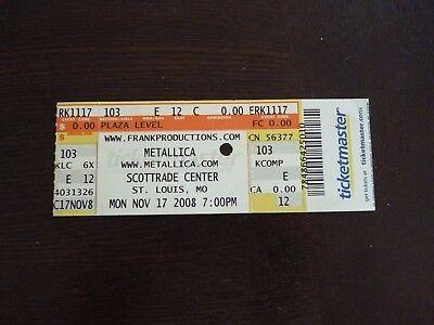 Metallica Nov 17 2008 Scottrade Center St Louis Mo Used Ticket Stub