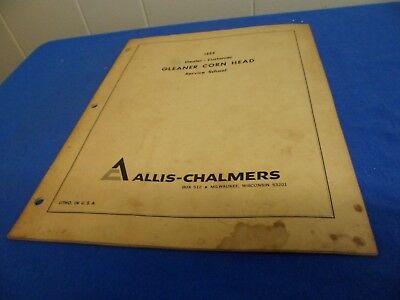 Drawer 29 Allis Chalmers 1966 Dealer Customer Gleaner Corn Head Service School