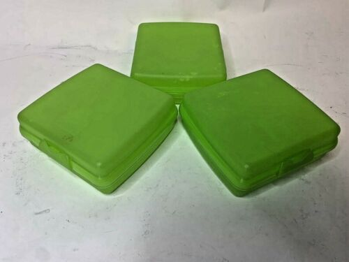 Lot Of 3 - Tupperware Clam Hinged Lid Sandwich Keeper 3752D