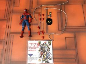 Marvel select Spiderman and Revoltech Kaiyodo Ironman