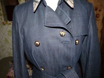 BURBERRY DENIM TRENCH COAT