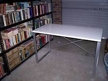 White Top - Metal framed Desk - 1200 x 600 mm Highland Park Gold Coast City Preview