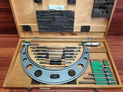 Nice Mitutoyo No. 203 138 6 - 12 Micrometer .001 Set Wcase