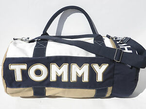 Large Gym Bag Duffle Tommy Hilfiger women men handbag Navy Blue Red Khaki NEW