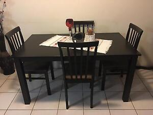 Dining Table + 4 Chairs Strathfield South Strathfield Area Preview