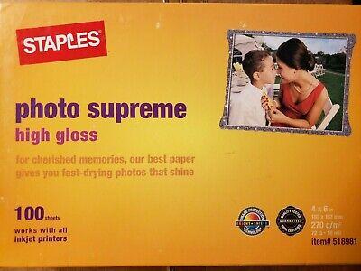 Photo Supreme High Gloss For Inkjet Printers - 100 Sheets - 4 x 6 72lb
