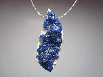 Fluorite Blue Purple Color Change Natural Crystal Gemstone Focal Bead Pendant