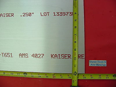 14x 12x 20 Aluminum 6061 Sheet Plate .250 Thick T6 New 12 Flat Bar Stock