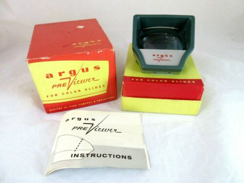Vintage Argus PreViewer For Color Slides WORKS