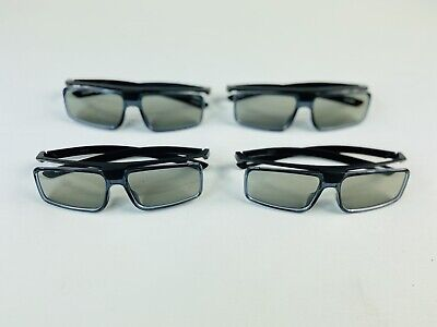 SONY TDG-500P PASSIVE 3D GLASSES FOR 3D TV TELEVISION - SET OF 4