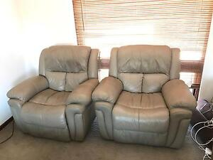 RRP $389 ea 2 x Quality IMAGE Leather Recliners Classic Tan ALL OFFERS Hallett Cove Marion Area Preview