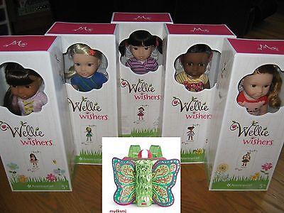 American Girl WELLIE WISHERS 5 Doll SET Emerson Willa wellie