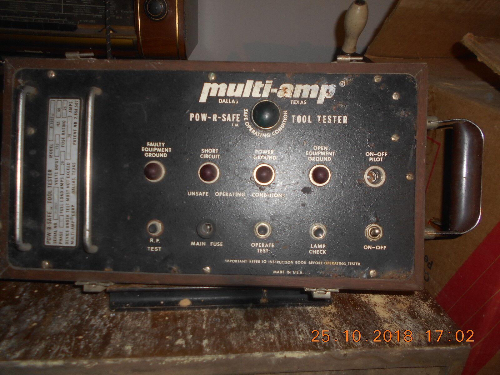 MULTI AMP- POW -R-SAFE  -  TOOL TESTER - USA - STRUMENTO PER LABORATORIO