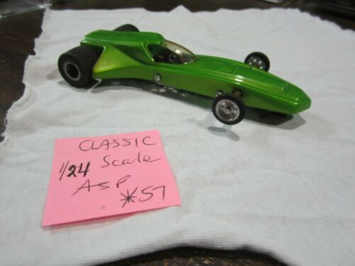 Used Vintage Classic ASP 1/24 Scale Slot Car Lime Green (see pictures)