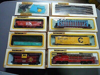 Vintage BACHMANN Chrome GE U36B Diesel SANTA FE HO Train Set #1