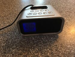 iHome iPhone Docking Station iPod Dual Alarm Clock Model # IH22 Silver