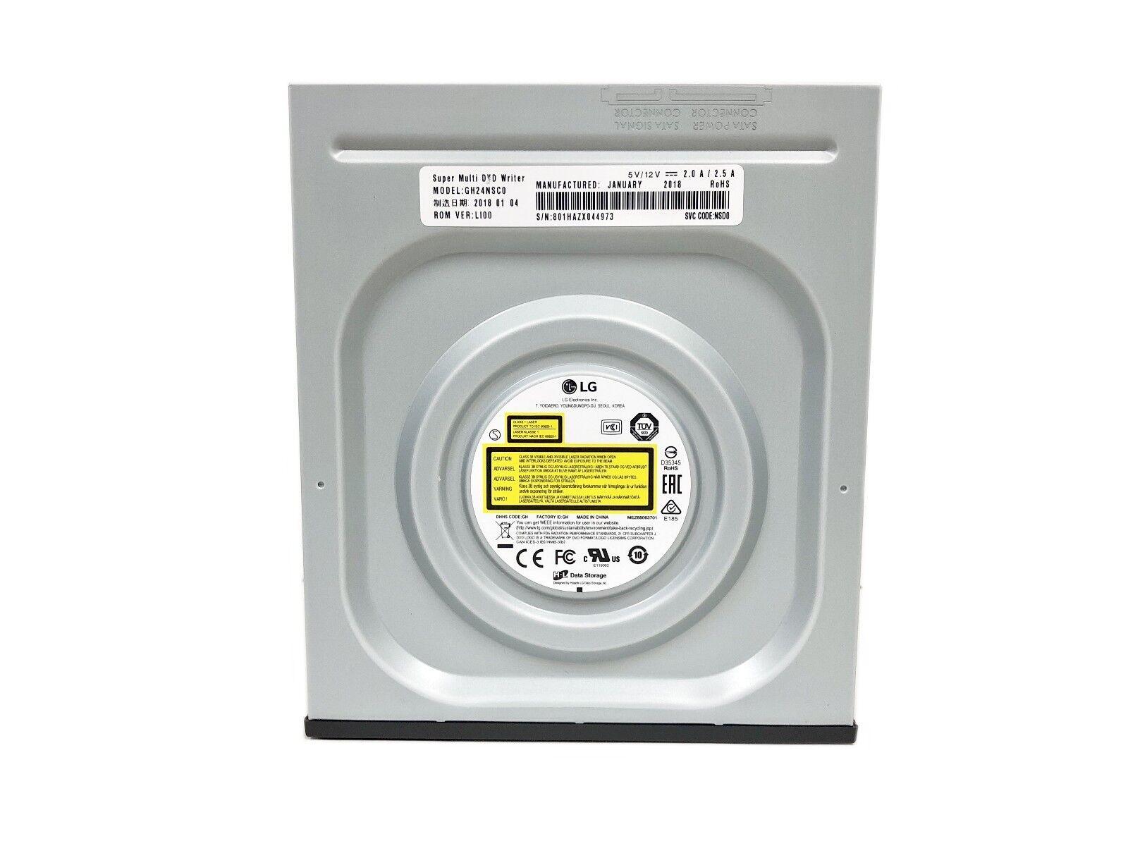 LG Internal SATA 24x DVD CD +/-R & RW DL Disc Burner Re-Writer Drive OEM Bulk