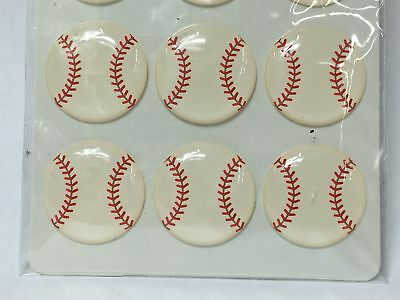 Lot of 3 Doodlebug Designs Baseball Sprinkles Shapes for Scrapbooking 36 Total - Baseball Sprinkles