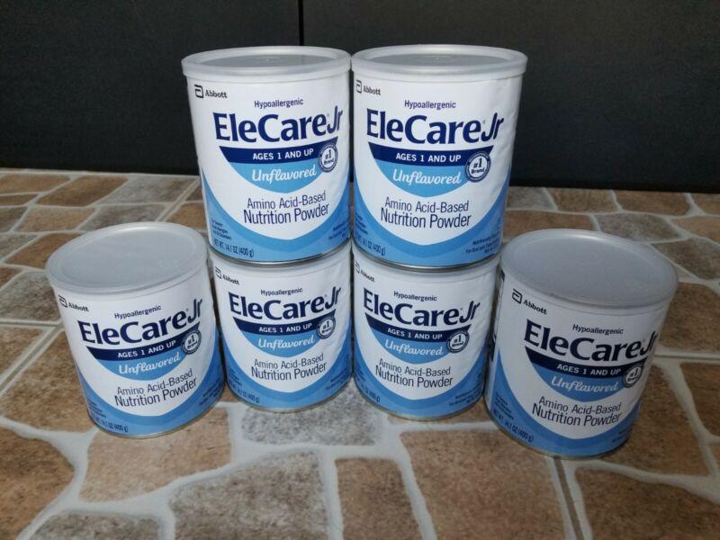 Elecare Jr Unflavored Hypoallergenic Formula 6 - 14.1 oz Cans 55253