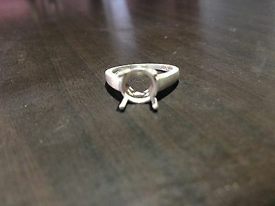 925 Sterling Silver Semi Mount Ring Setting 9 mm Round Stone Engagement Settings