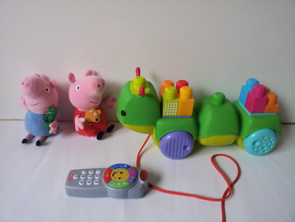 Mega Bloks Musical Caterpillar, George and Peppa Pig and other