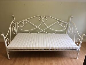 Metal Daybed with Brand New Mattress