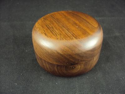 Paper Weight Woodessen Walnut Solid Wood Round Shape Gift Box Free Ship