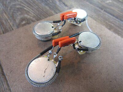 Les Paul Modern Wiring + Treble Bleed | CTS 450G Audio Taper Pots, Orange Drop 2 ()