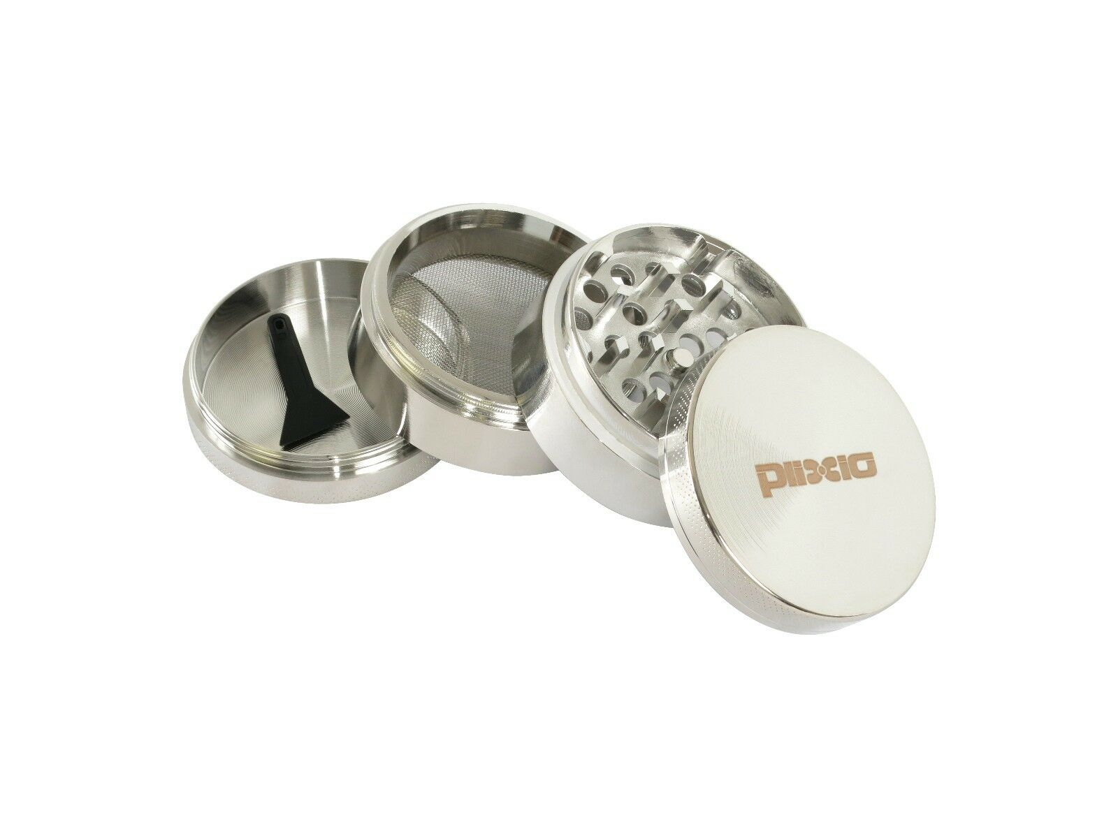 """Herb Grinder Crusher for Tobacco 4 Piece 2"""" Metal Hand Muller Spice Silver 4pc"""