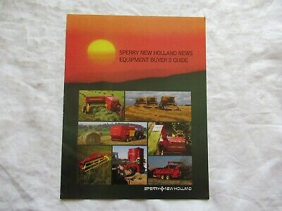 1984 Sperry New Holland News Equipment Buyers Guide Brochure