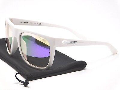 - Arnette FIRE DRILL Sunglasses AN4143-21 2172/4V White with Purple Mirror lenses