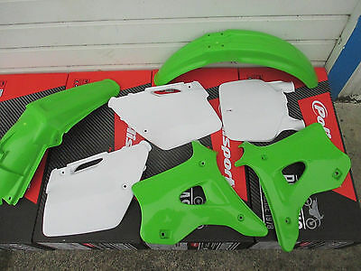 POLISPORT KAWASAKI PLASTIC KIT KX125 KX250 FENDERS SHROUDS 1994 1995 1996 97 98 for sale  Shipping to South Africa