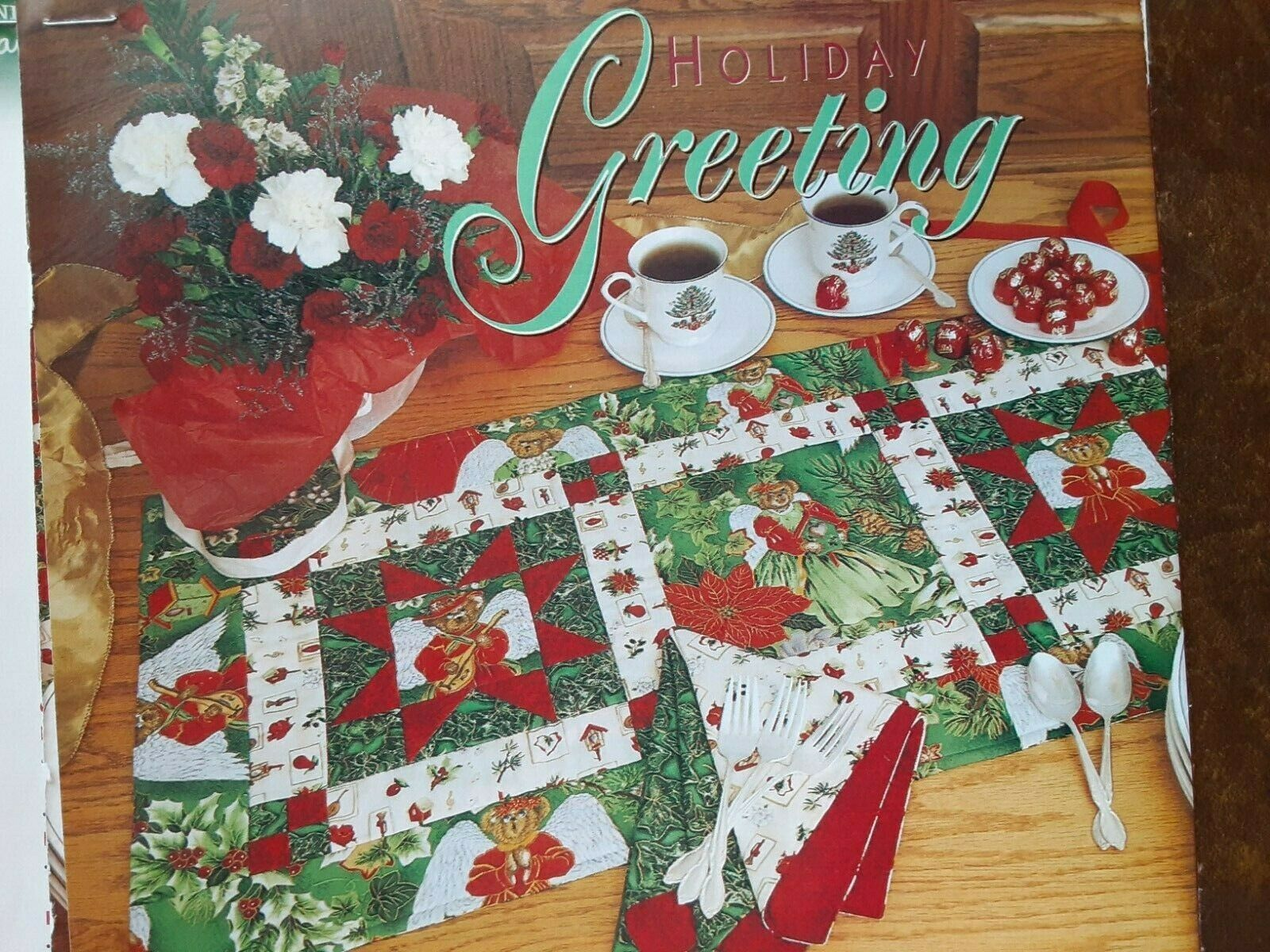Holiday Greeting Quilt Magazine Pattern Table Runner - $1.75