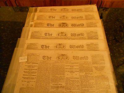 6 RARE 1864 Original CIVIL WAR The World Newspapers New York and More