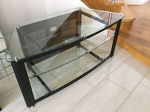 GLASS TV STAND North Lakes Pine Rivers Area Preview