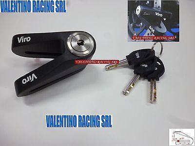BLOCCA DISCO ACCIAIO VIRO 166 PER MOTO E SCOOTER CON PERNO 6 MM SH 125 150 2013